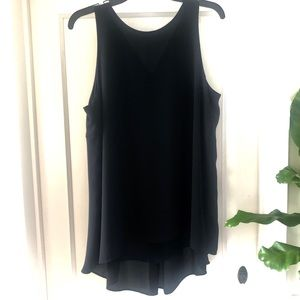 Vince Camuto Black Blouse W/ Pleated Back
